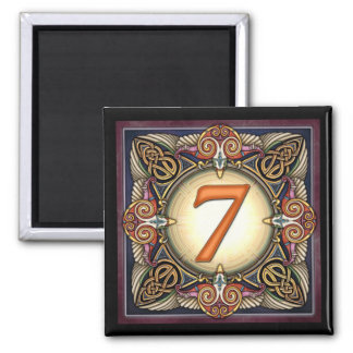 """Style C, """"7"""" - Celtic Number Magnets"""