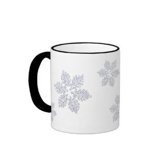 ~Style C del copo de nieve que brilla Taza De Dos Colores