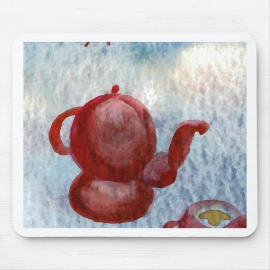 Style Coffee Rounded CricketDiane Coffee Art Mouse Pad