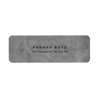 Style Creative Grey Chalkboard Modern Professional Label