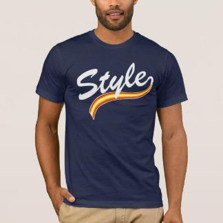 Style cursive lines white T-Shirt