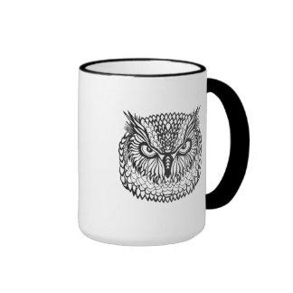 Style Eagle Owl Head Ringer Mug