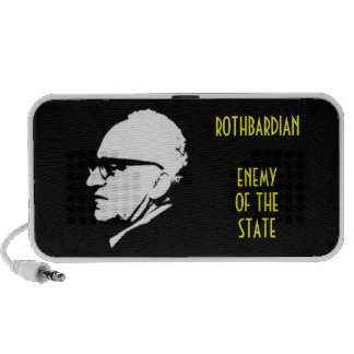 Style Enemy of the State with Murray Rothbard Portable Speakers