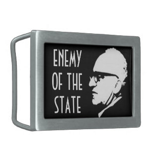 Style Enemy of the State with Murray Rothbard Rectangular Belt Buckle