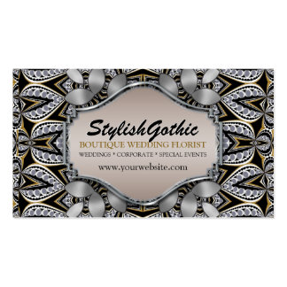 Style Fusion Silver Black Gold Baroque BizCards Business Card