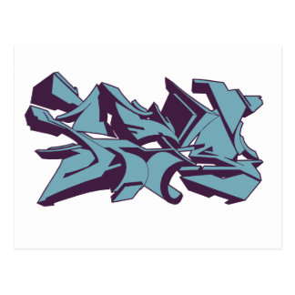 style graf blue postcard