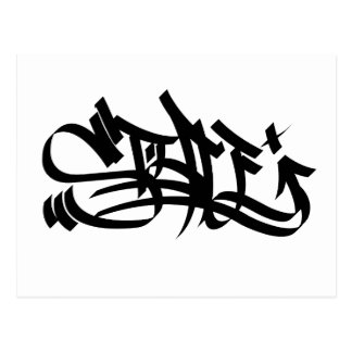 Style graf marker post card