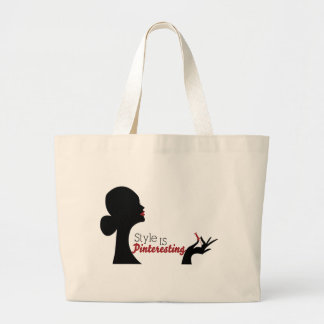 Style Is Pinteresting Tote Bags