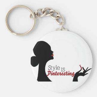 Style Is Pinteresting Basic Round Button Keychain