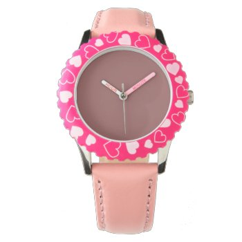 Style: Kid's Adjustable Bezel Stainless Steel Pink Watch by CREATIVEBRANDS at Zazzle
