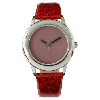 Style: Kid's Red Glitter Strap Watch by CREATIVEBRANDS at Zazzle