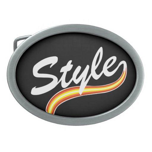Style lines cursive belt buckle
