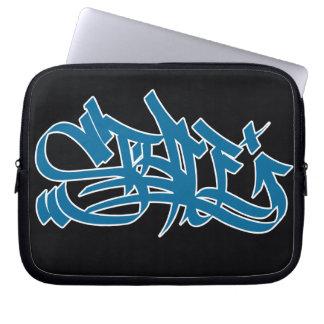 Style marker blue laptop sleeve