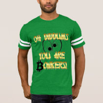 Style: Men's Football T-Shirt – Bitcoin Logo