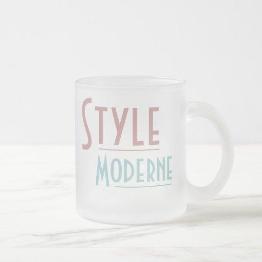 STYLE MODERNE mug (frosted glass)