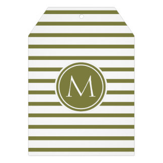 Style Monogrammed with Woodbine Stripes Card