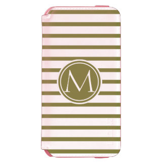 Style Monogrammed with Woodbine Stripes iPhone 6/6s Wallet Case