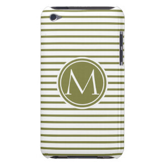 Style Monogrammed with Woodbine Stripes iPod Touch Case-Mate Case
