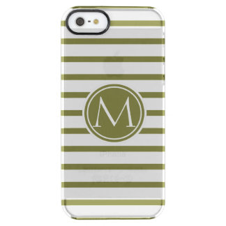 Style Monogrammed with Woodbine Stripes Uncommon Clearly™ Deflector iPhone 5 Case