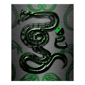 Style of the Jade Snake Poster