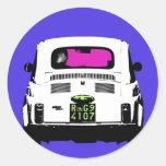 style pop art Fiat 500 in Rome Sticker