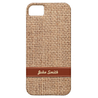 Style Red Striped Linen Fiber iPhone 5 Case