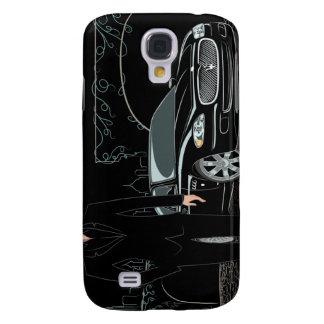 Style Sleek ( Black ) iphone 3 Samsung Galaxy S4 Case