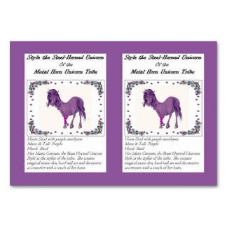 Style the Steel Horned Unicorn Trading Card