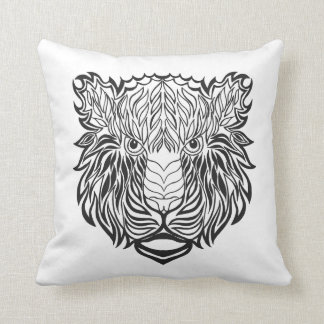 Style Tiger Head Throw Pillow