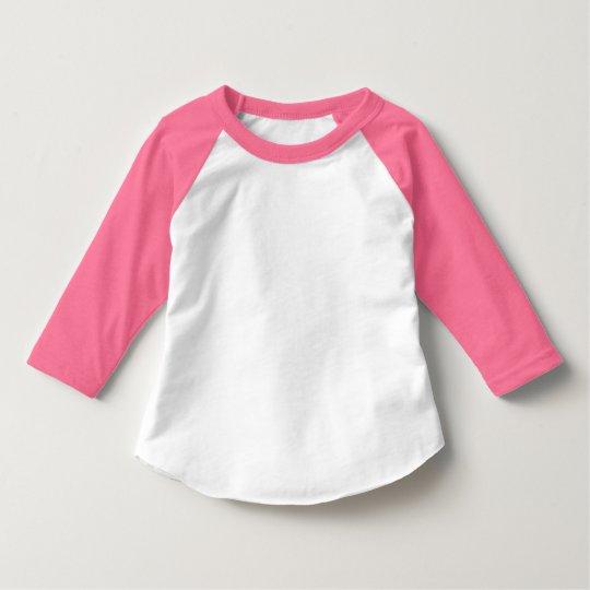 Style toddler american apparel 3 4 sleeve raglan t shirt for 3 4 sleeve shirt template