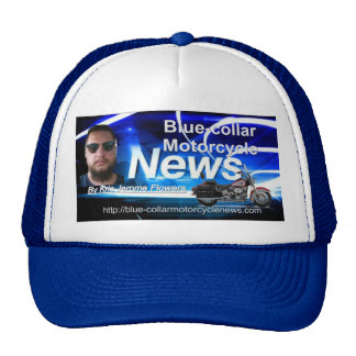 Style: Trucker Hat Blue-Collar-Motorcycle-News