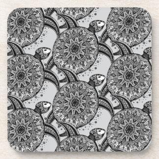Style Turtle Pattern Coaster