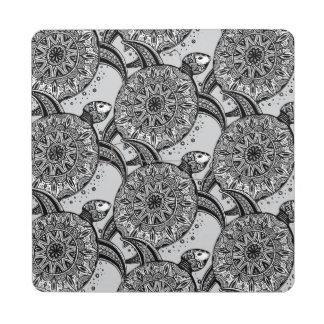 Style Turtle Pattern Puzzle Coaster