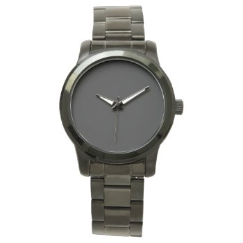 Style: Unisex Oversized Black Bracelet Watch by CREATIVEBRANDS at Zazzle