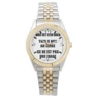 Style: Unisex Two-Tone Bracelet Watch