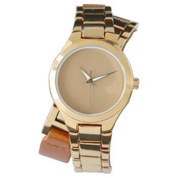 Style: Women's Wraparound Gold Watch by CREATIVEBRANDS at Zazzle