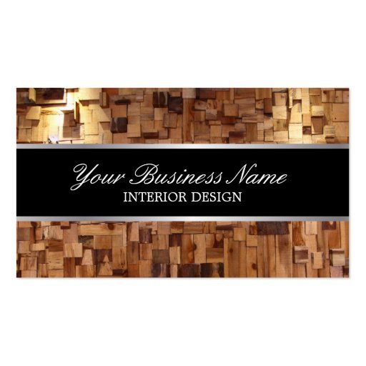 Style wood texture interior design business card zazzle for Interior design business