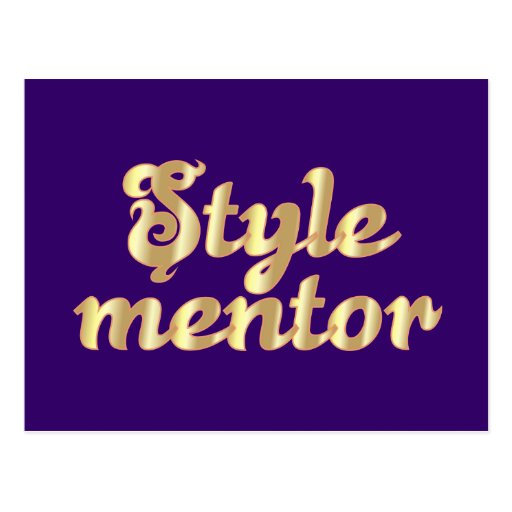 styles mentor postcard