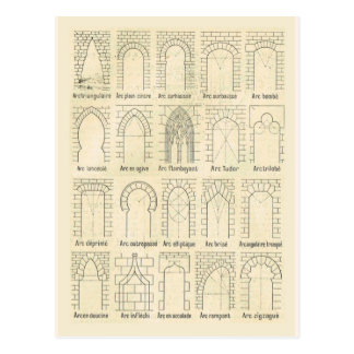 Styles of arches postcard