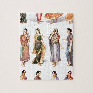Styles_of_Sari vintage print Jigsaw Puzzle