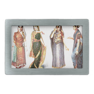 Styles_of_Sari vintage print Rectangular Belt Buckle