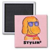 Stylin' Dog & Sunglasses Magnet