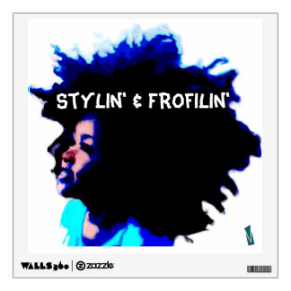 Stylin' & Frofilin' blue wall decal