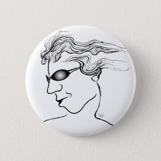 Stylin' Oval Dude Pinback Button