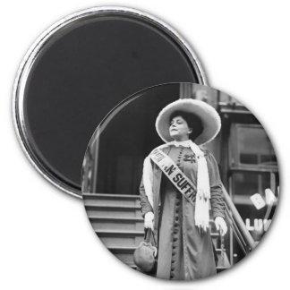 Stylin' Suffragette, 1908 2 Inch Round Magnet