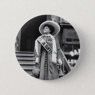 Stylin' Suffragette, 1908 Button