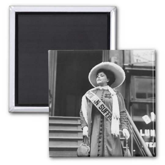 Stylin' Suffragette, 1908 Magnet