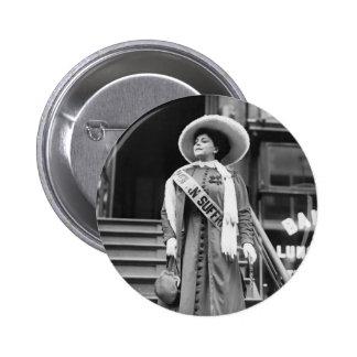 Stylin Suffragette, 1908 Pin Redondo 5 Cm