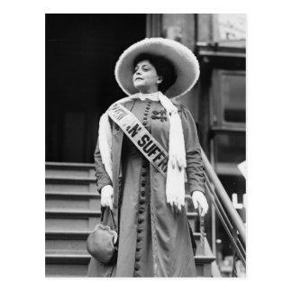 Stylin' Suffragette, 1908 Postcard