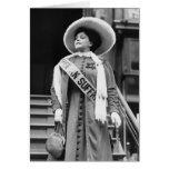 Stylin Suffragette, 1908 Tarjeta